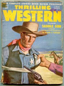 Thrilling Western Pulp November 1952- Saddle Gun G/VG