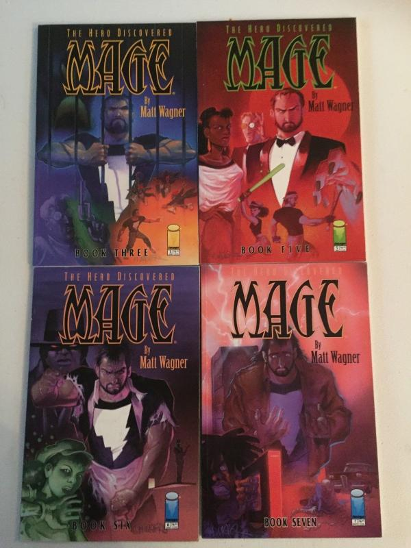 MAGE THE HERO DICOVERED V1 TPB's 3,5,6,7, NM  #6 1'ST GRENDEL / COLOR