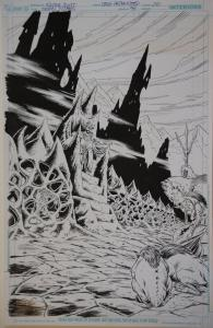 NICOLA SCOTT / DOUG HAZLEWOOD original art, TEEN TITANS #94, pg 20,11x17, Splash