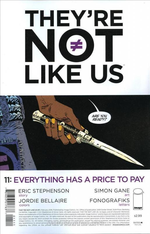 They're Not Like Us #11 VF/NM; Image | save on shipping - details inside