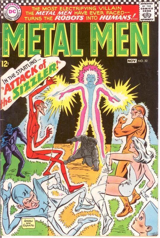 METAL MEN 22 VG-F Nov. 1966 COMICS BOOK