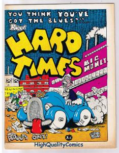 HARD TIMES #1, FN+, George Hansen, Underground, 1971, more UG in our store