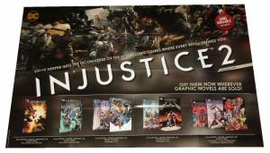Injustice 2 Folded Promo Poster Batman Superman WW DC 2017 (24 x 36) - New!