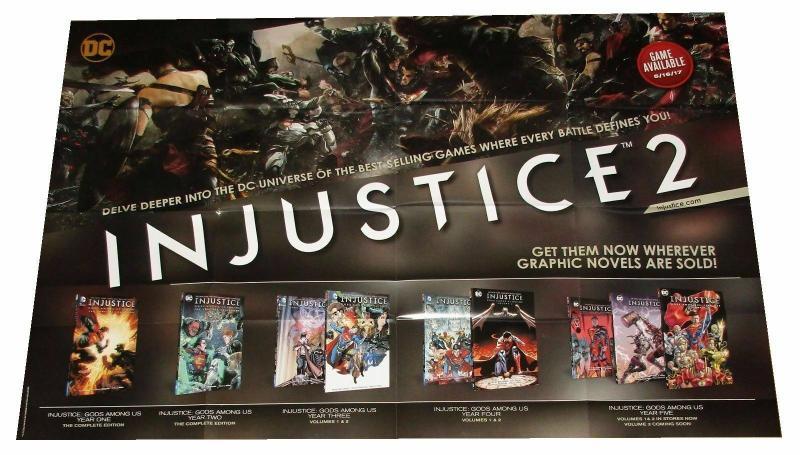 Injustice 2 Folded Promo Poster Batman Superman WW DC 2017 (24 x 36) - New!