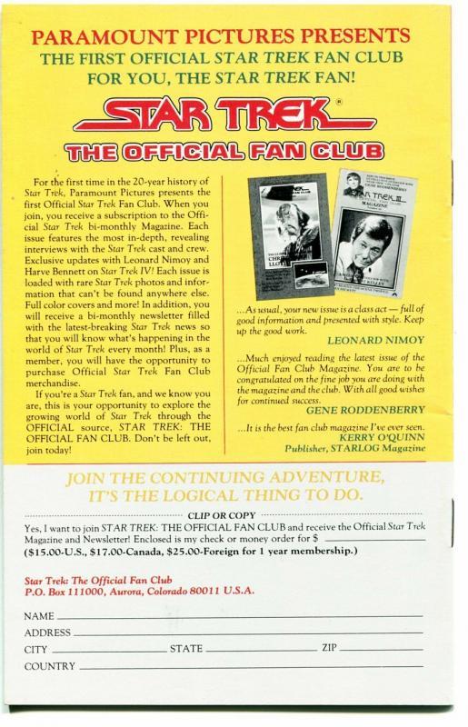 Star Trek Official fan Club Guide-#49 4/1986-Walter Koenig-VF