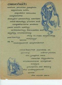 CARANDAITH (cover page) George Barr artwork (1970) Scarce! Fanzine related