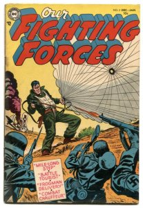 Our Fighting Forces #2 1954-Parachute cover- DC comics VG/F