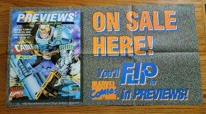 "35""x18"" X-Men CABLE Marvel Comics Preview Promo Poster NO PIN HOLES NEW"