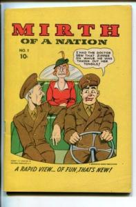 MIRTH OF A NATION #1-1940'S-WWII COLOR COMICS-DIGEST FORM-SOUTHERN STATES-vf+