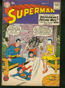 SUPERMAN #131 1959 DC SUPERMAN'S FUTURE WIFE SUPERBOY VG-