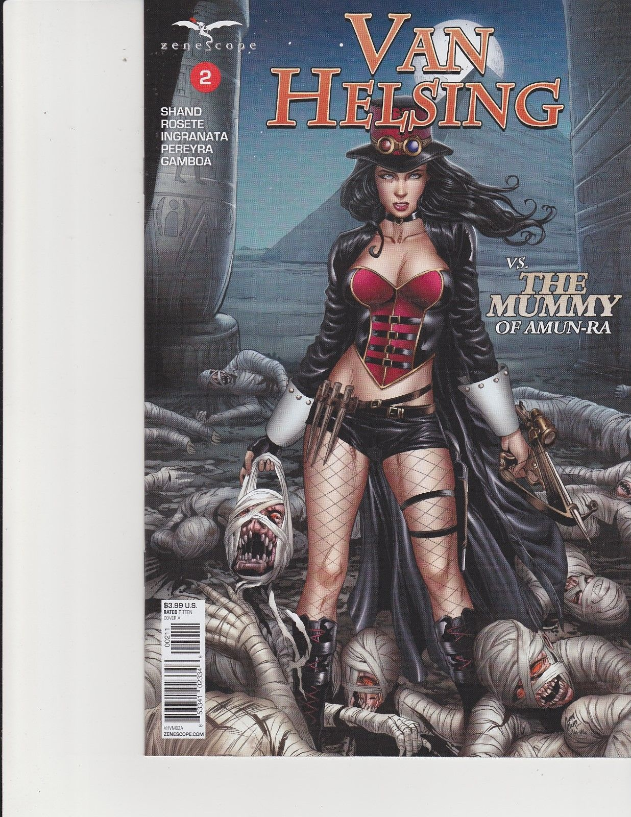 Van Helsing vs The Mummy #2 Cover A Zenescope Comic GFT NM Otero
