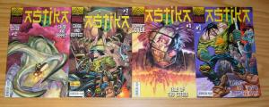 Astika #1-2 VF/NM complete series + (2) variants INDIA FREEDOM FIGHTER MANGA
