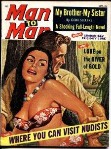 MAN TO MAN September 1964 Spicy Island Girl Headlight cover exploitation pulp