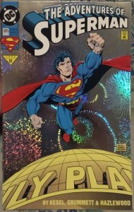 Adventures of Superman #505 FN reflective cover
