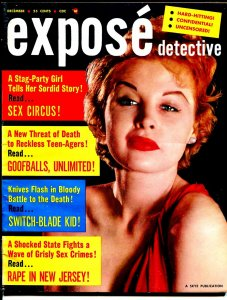 Expose Detective 12/1957-crime pix-Switch-Blade Kid-Goofballs Unltd-FN