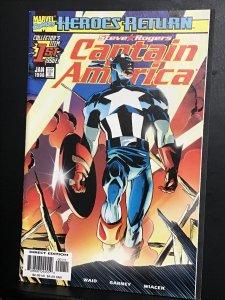 Captain America Vol 3  #1 (1998) hi Grand heroes return first issue! NM- Wow!