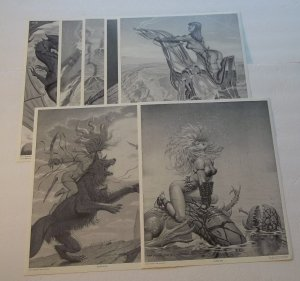 7 Petz Artwork Plates 1989 Beauties and their Beasts Portfolio Fastner/Larson