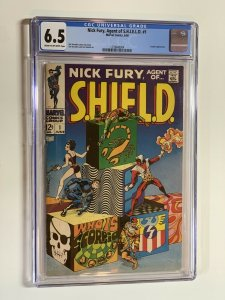 Nick Furt Agent Of Shield 1 Cgc 6.5 Cr-ow Pages Marvel Silver Age