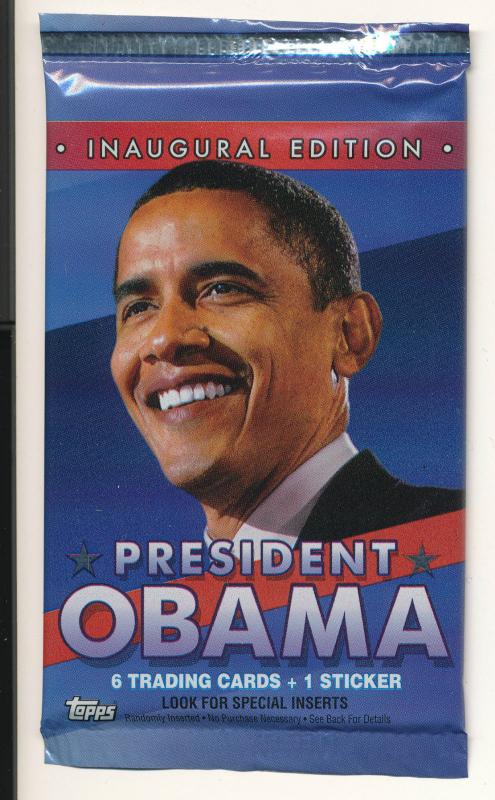 2008 Topps President Barack Obama Inaugural Edition Trading Cards Sealed Pack