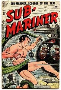 Sub-Mariner #35-1954-Atlas Superhero-Rare-Marvel-Shark cover