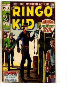 Lot Of 5 The Ringo Kid Marvel Comic Books # 1 2 3 7 8 Wild Western Cowboys RH2