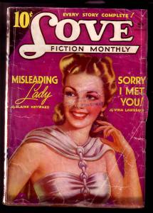 LOVE FICTION MONTHLY 1941 JAN-MISLEADING LADY VG