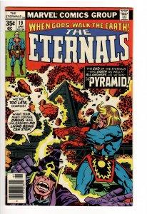 ETERNALS(KIRBY,1976);19 VF/NM LAST ISSUE!!LOW PRINT RUN;1st Pyramid