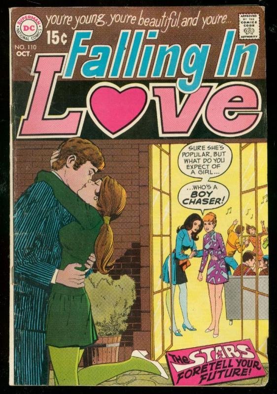 FALLING IN LOVE #110 1969-DC ROMANCE COMICS-HOT LIPS FN-