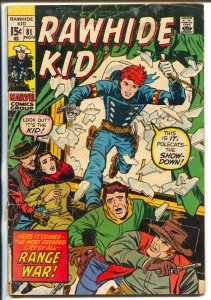Rawhide Kid #81 1970-Marvel-Larry Leiber-western action-cover detached-G