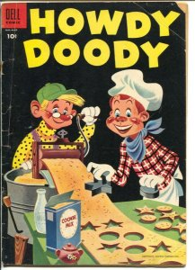 Howdy Doody #32 1953-Dell-cookie cover-time travel story-VG