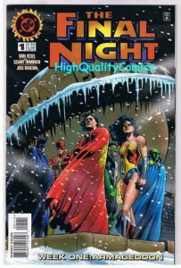 FINAL NIGHT #1, NM+, Wonder Woman, Batman, Flash, 1996, more DC in store
