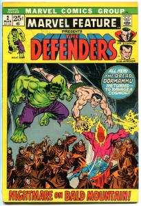 MARVEL FEATURE #2, FN+, Defenders, Hulk, Dr Strange, 1971, Doctor, Bronze age
