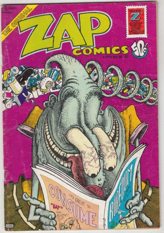 Zap #6 (Jan-73) VG/FN Mid-Grade Mr. Natural, Flaky Foont, Star-Eyed Stella, O...