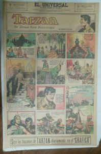 Tarzan Sunday Page #634 Burne Hogarth from 5/2/1943 in Spanish! Full Page Size