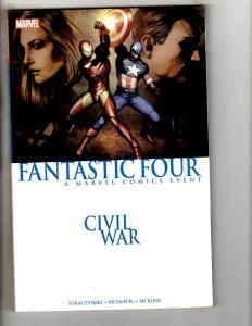 Fantastic Four CIVIL War Marvel Comics TPB Graphic Novel Comic Book Thing J259
