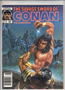 Savage Sword of Conan #163 (Aug-89) NM- High-Grade Conan