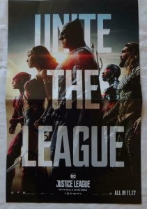 UNITE THE LEAGUE  Promo poster, 11 x 17, 2017, DC BATMAN WONDER WOMEN Unused 017