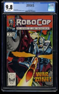 RoboCop #6 CGC NM/M 9.8 White Pages