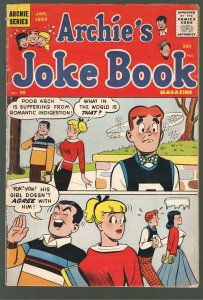 ARCHIES JOKE BOOK #38 VG/F 5.0 (1959!!) 10 cent Cover!