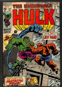 Incredible Hulk (1968) #122 FN+ 6.5 Hulk Thing Battle! Marvel Comics