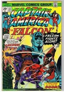 CAPTAIN AMERICA #177, VG+, Falcon, Lucifer, Buscema, 1968, Steve Englehart