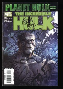 Incredible Hulk (2000) #104 NM+ 9.6 Signed by Greg Pak on front cover!
