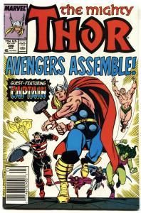 Thor #390 1988 / Captain America wields Mljonir comic