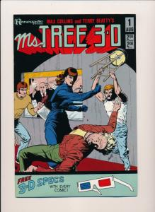 Renegade Press Comics MS. TREE 3-D #1 (with glasses) ~ VF/NM 1985 (HX747)