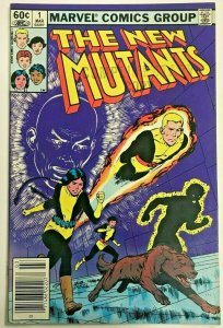 NEW MUTANTS#1 VF 1983 MARVEL BRONZE AGE COMICS Commercial stamp on cover