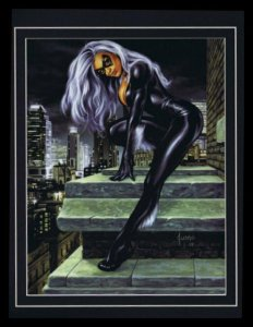 Black Cat Felicia Hardy Framed 11x14 Marvel Masterpieces Poster Display