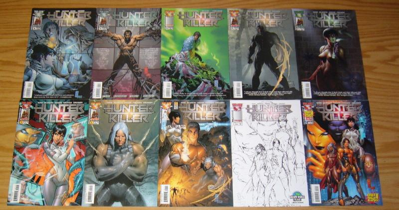 Hunter-Killer #0 & 1-12 VF/NM complete series +scriptbook +dossier + 11 variants