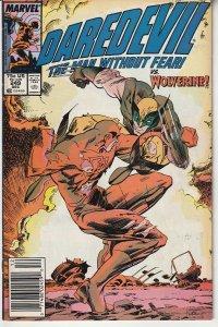Daredevil(vol. 1)# 249 Enter: Wolverine and 1st appearance of Bushwacker