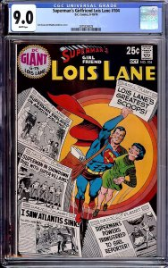 Superman's Girlfriend Lois Lane #104 (DC, 1970) CGC 9.0