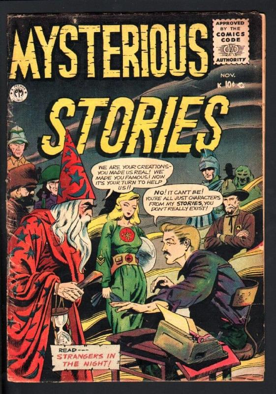 MYSTERIOUS STORIES #6-1955-HORROR SCI-FI